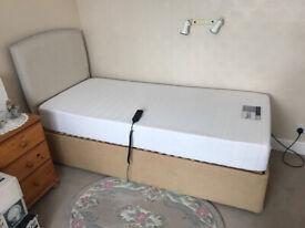 NEVER USED LIKE NEW SINGLE ORTHOPEDIC ELECTRIC BED WITH MEMOEY FOAM MATRESS UNUSED,