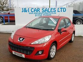 PEUGEOT 207 1.6 HDI ACTIVE 5d 92 BHP (red) 2011