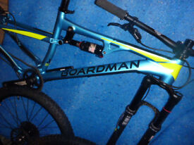 "BOARDMAN FS PRO 2017 FULL SUSPENSION MTB MOUNTAIN BIKE 16"" SMALL"