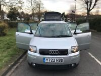 Audi A2 1.4 SE 5dr ,1 YEAR MOT+HPI CLEAN+4 SEATER +EXCELLANT CONDITION