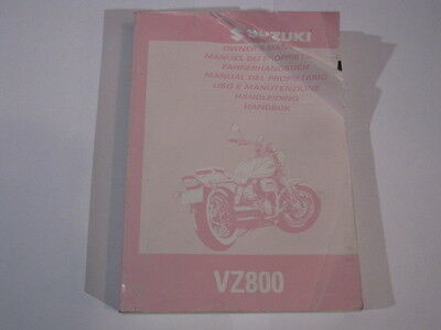 SUZUKI VZ800 1997 OWNERS MANUAL HANDLEIDING MANUEL DU PROPRIETAIRE