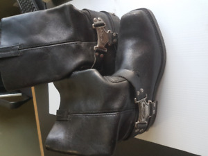 Harley Davidson Men's Black Leather Motorcycle Boots