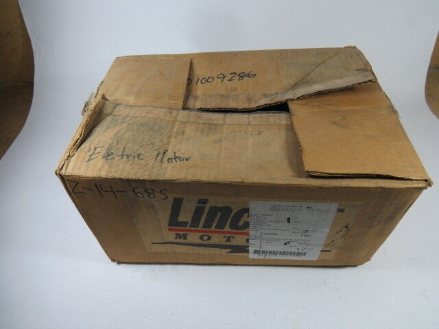 Lincoln Motors 1.5HP 3450RPM 115/208-230V 56HZ TEFC 14.2/7.7-7.1A 60Hz  USED