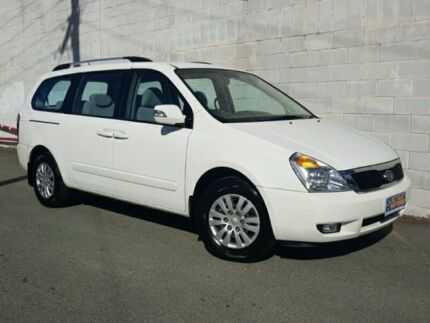 2010 Kia Grand Carnival VQ MY11 SI White 6 Speed Semi Auto Wagon Springwood Logan Area Preview