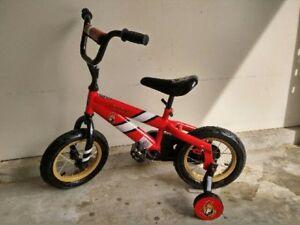 "12"" Kids bike with training wheels - Ottawa Senators model"