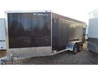 Enclosed Snowmobile Trailer -Stealth 7x21 plus 5' Slant Aluminum