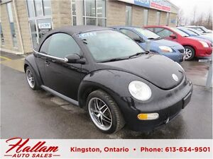 2003 Volkswagen New Beetle GLX, Turbo, Blk Leather, Manual Trans