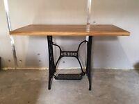 Handmade Solid Oak Singer Table