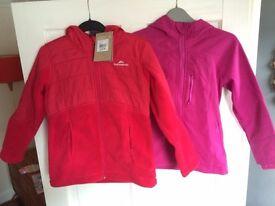 Girls size 10 Kathmandu Red Hooded Jacket and Cape Kids Pink Waterproof Coat