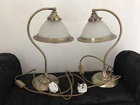 Antique bronze colour table lamps
