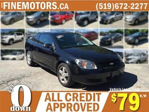 2010 CHEVROLET COBALT LT COUPE * LOW KM * CAR LOANS FOR ALL