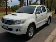 2012 Toyota Hilux KUN26R MY12 SR5 Double Cab White 4 Speed Automatic Utility Hillcrest Port Adelaide Area Preview