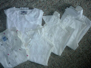 White Sleeveless Blouses : Cotton : Youth M/L or Ladies P