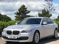 BMW 7 SERIES 3.0 730D M SPORT 4d AUTO 242 BHP (silver) 2011