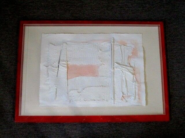 "Original 1985 Signed MANUEL REVUELTA Abstract Mixed Media Art 47"" x 32 1/4"""