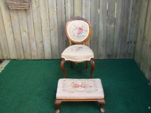Old fashion chair and Foot stools