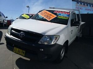 2005 Toyota Hilux TGN16R Workmate White 5 Speed Manual Cab Chassis Greenacre Bankstown Area Preview