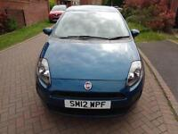2012 Fiat Punto 1.4 8v ( 77bhp ) ( s/s ) Easy Blue Petrol Maunal Only 79k Miles