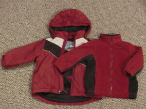 2 in 1 Children's Place Winter Jacket, Size 3T
