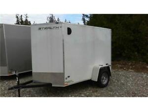 """Enclosed Cargo Trailer- 5x8 with  5'6"""" Int. Height & Upgrades!"""