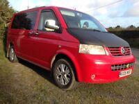 VW T5 1.9 TDI MOT, Camper, day van sleeps 2, High miles but a great van includes a roof + bike racks