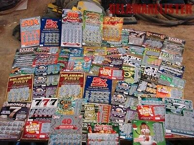 Delaware Lottery Lot Of 50 Scratch Off Tickets No Non Winners Great To Collect