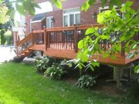 DECK STAINING & RESTORATION! SAVING DECKS ONE STAIN AT A TIME!
