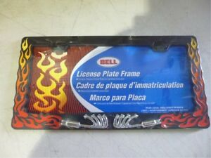 Licence plate frame Black with red flames New in package