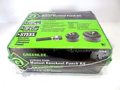 1-12 - 2 Greenlee 737bb Manual Knockout Punch Kit - In Original Shrinkwrap