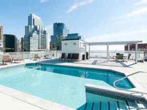 Montreal downtown appartment 3 1/2 - rooftop pool gym sauna