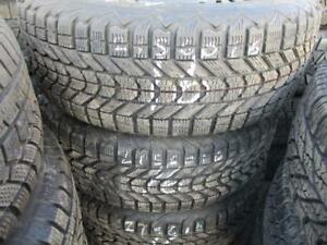 215/60 R16 HONDA ACCORD WINTER TIRES AND RIMS PACKAGE (SET OF 4) - USED FIRESTONE WINTERFORCE TIRES APPROX. 85% TREAD