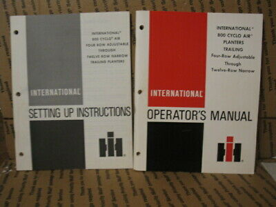 2 Ih Manuals 800 Cyclo Trailing Planter 4-12 Row Setup Operators