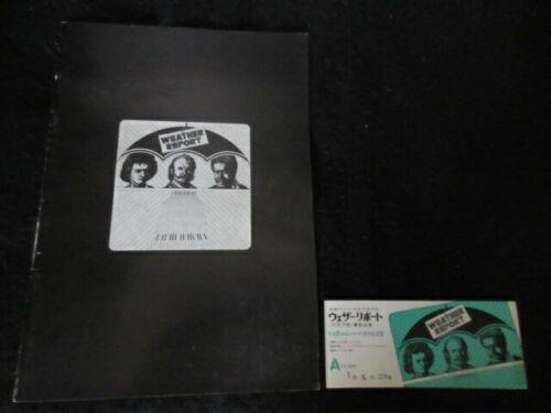 Weather Report 1972 Japan Tour Book Program w Ticket Stub Zawinul Wayne Shorter