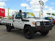 2011 Toyota Landcruiser VDJ79R MY10 Workmate White 5 Speed Manual Cab Chassis Garbutt Townsville City Preview