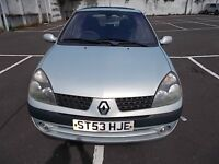 RENAULT CLIO 1.4 DYNAMIQUE 16V 5 DOOR HATCHBACK 53 REG,, CHEAP TO RUN,, MOT OCTOBER 2017