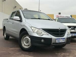 2011 Ssangyong Actyon Sports Q100 MY08 Silver 5 Speed Manual Double Cab Utility East Victoria Park Victoria Park Area Preview