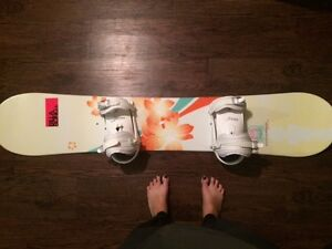 Women's Burton Snowboard and Boots and Option Bindings For Sale