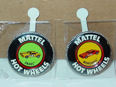 Hot Wheels Redline SNAKE & MONGOOSE Button Set