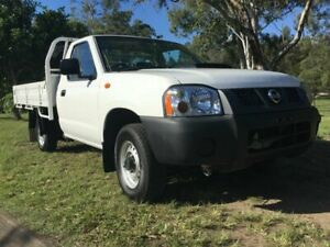 2009 Nissan Navara D22 MY2008 DX 4x2 White 5 Speed Manual Cab Chassis Underwood Logan Area Preview