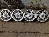 "BBS 4x108, 14"", 6J DEEP DISH ALLOY WHEELS, original classic, not borbet, azev tm"
