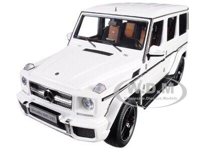 Opened MERCEDES AMG G 63 GLOSS WHITE 1/18 MODEL CAR BY AUTOART 76321