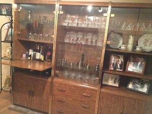 Solid Wood 3 Piece Wall Unit