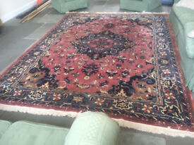 BEAUTIFUL ORIENTAL STYLE RUG- VINTAGE BUT IN GOOD CONDITION- 3.65M BY 2.75M SO LARGE IN SIZE