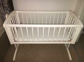 Swinging mothercare crib