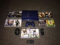 RARE BLUE PS3 SUPERSLIM 250 GB w/ HDMI & 10 AMAZING GAMES !!!