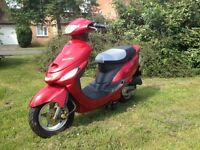 2006 Baotian bt50qt-9 50cc moped scooter like Peugeot Vclic low mileage