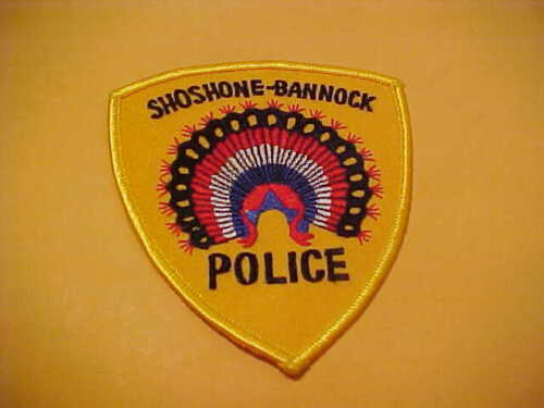 IDAHO SHOSHONE- BANNOCK POLICE PATCH SHOULDER SIZE UNUSED YELLOW