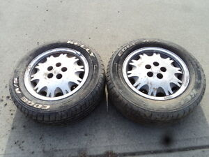 2 Kelly Tires with Rims for Chrysler Le Baron 205/60/15