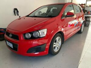 2015 Holden Barina TM MY15 CD Red 6 Speed Automatic Hatchback North Hobart Hobart City Preview
