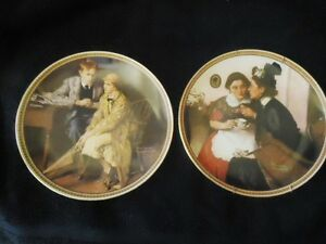 2 Norman Rockwell's Classics -Collector Plates by Knowles (1983)
